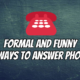 Ways To Answer The Phone