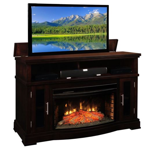 Can I set up an electric fireplace under the TV